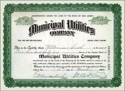 Municipal Utilities Company - 1914