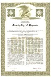 Municipality of Bayamon Public Improvement Bond - Puerto Rico 1960