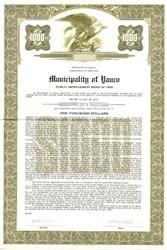 Municipality of Yauco Public Improvement Bond - Puerto Rico 1959
