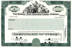 Murray Ohio Manufacturing Company (bicycle maker) Specimen Stock Certificate - 1981