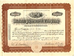 Mutual Pharmacal Company - New York 1920