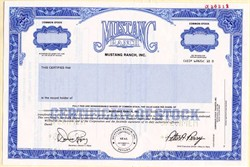 Mustang Ranch, Inc. (Famous Nevada Brothel) RARE - Nevada 1990