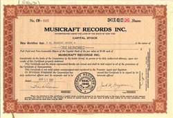 Musicraft Records Inc. - New York 1947