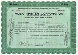 Music Master Corporation - 1926