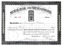 Mutual Bank and Trust Company 1920 - Hartford, Connecticut