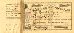 Mutual Telephone Company - Honolulu, Hawaiian Islands - 1889