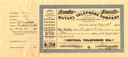 Mutual Telephone Company (Uncancelled) - Honolulu, Territory of  Hawaii 1904