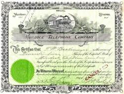 Murdock Telephone Company - Nebraska 1910