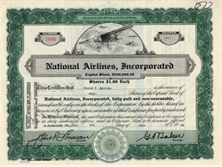 National Airlines, Inc - George Baker -SCARCE - Jacksonville , Florida 1944