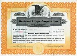 National Alloys Corporation - Utah 1918