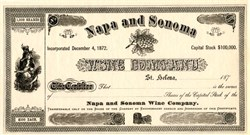 Napa and Sonoma Wine Company - California 1872 - ( Now Charles Krug and  Peter Mondavi Family Winery)