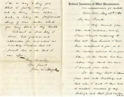 National Association of Wool Manufacturers - Massachusetts 1880