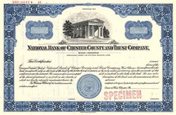 National Bank of Chester County and Trust Company - West Chester, Pennsylvania