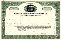 National Bank & Trust Company of Central Pennsylvania - York, Pennsylvania