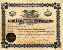 National Building Loan and Provident Association - Pennsylvania 1899