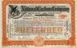 National Carbon Company ( Became Eveready Batteries) - New Jersey 1901