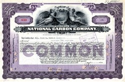 National Carbon Company ( Became Eveready Batteries)  - New Jersey 1914