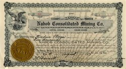 Nabob Consolidated Mining Company - Utah 1907
