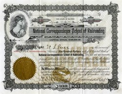 National Correspondence School of Railroading School of Railroading - Illinois 1908