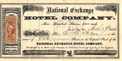 National Exchange Hotel Company - Nevada City, California 1864