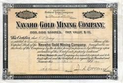 Navaho Gold Mining Company - Maine 1900
