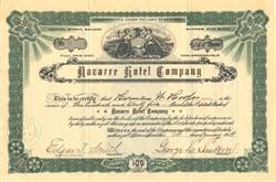 Navarre Hotel Company - New York  1909