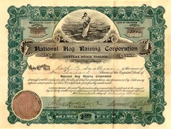 National Hog Raising Corporation - Delaware 1918