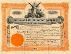 National Life Preserver Company (Originally sold during WWI to protect from U Boat Sinkings) - 1921