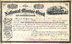 National Marine Bank of Baltimore - 1884
