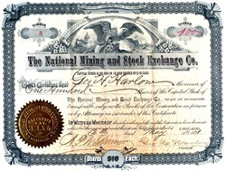 National Mining and Stock Exchange Co. - Illinois 1891