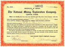 National Mining Exploration Company - Maine 1910