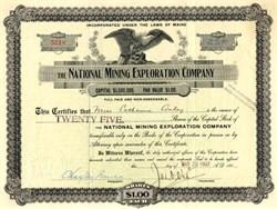 National Mining Exploration Company - Pinal County, Arizona -  1907