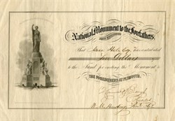 National Monument to the Forefathers - Plymouth, Massachusetts 1856