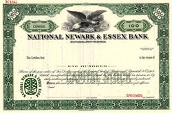 National Newark & Essex Bank - Newark, New Jersey