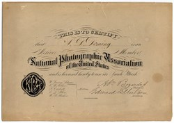 National Photographic Association of the United States - 1874