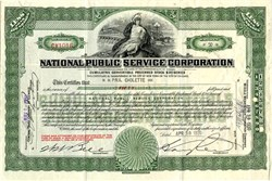 National Public Service Corporation - Virginia 1930