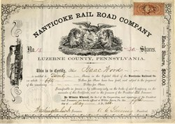 Nanticoke Rail Road Company - Luzerne County, Pennsylvania 1863