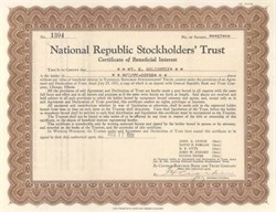 National Republic Stockholders' Trust - 1931