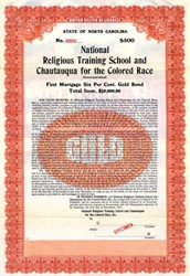 National Religious Training School and Chautauqua for the Colored Race - North Caroline 1911