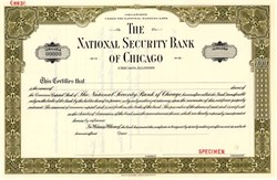 National Security Bank of Chicago - Illinois