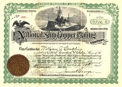 National Ship Copper Plating Company - 1902