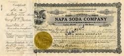 Napa Soda Company 1916 - California