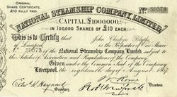 National Steamship Company, Limited - Liverpool, England 1867