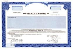 NASDAQ Stock Market, Inc RARE IPO Specimen - 2002