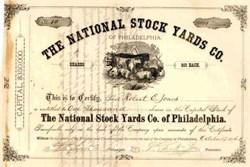 National Stock Yards Company of Philadelphia - 1876