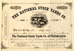 National Stock Yards Co. of Philadelphia - Pennsylvania 1876