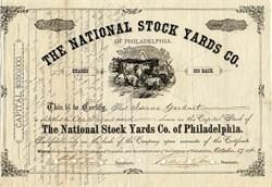 National Stock Yards Co. - Philadelphia, Pennsylvania 1876