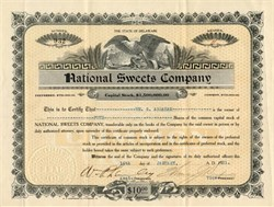 National Sweets Company -  Pittsburgh 1921