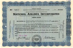 National Airlines, Inc 1945 - George Baker -SCARCE