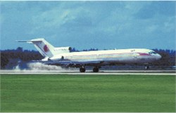 National Airlines postcard Boeing 727
